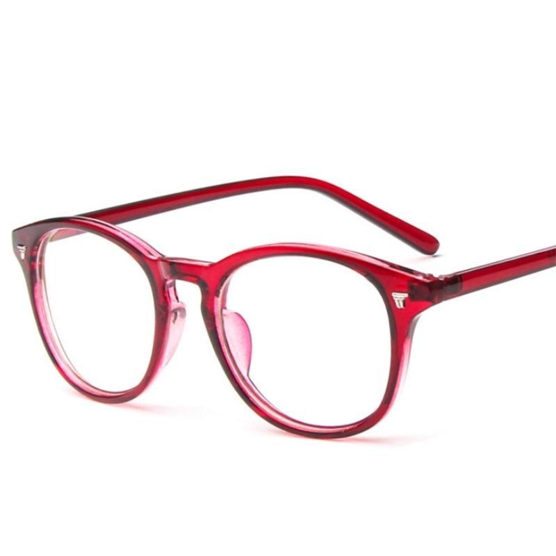 Atacado-Mulheres Óculos Frame redondo Marca Designer Men Moda prego Decoração Optical Glasses Reading Glasses