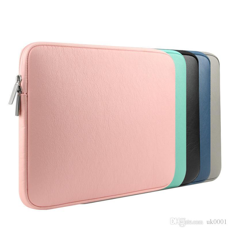 PU Leather Waterproof Laptop Sleeve Bag Protective Zipper Notebook Case Computer Cover for 11 13 15inch For Macbook Air Pro