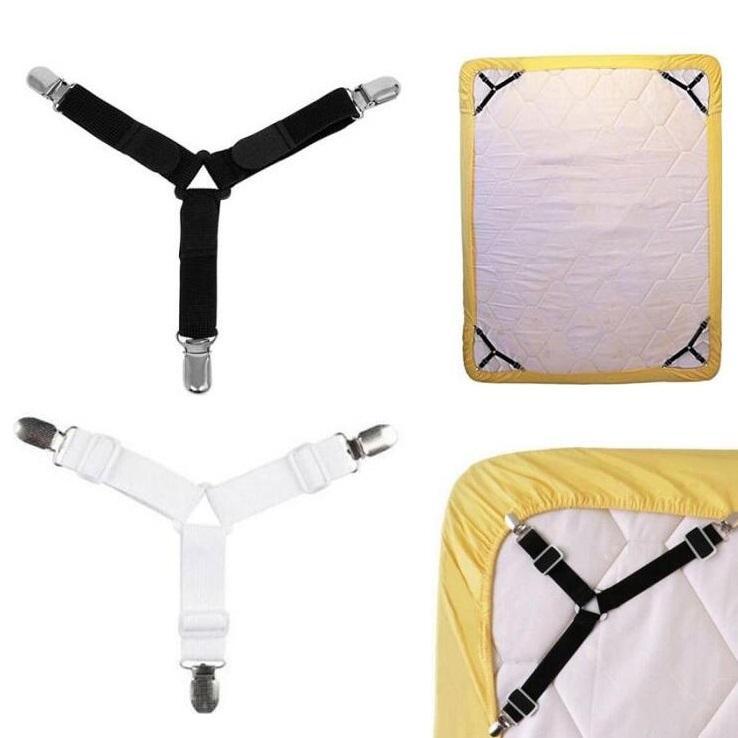 조정 삼각형 침대 시트 클립 스트랩 그리퍼 담요 매트리스 커버 코너 서스펜더 장착 시트 패스너 홀더 홈 실용 도구