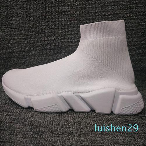 Kutu L29 olmadan 2019 Yeni Paris Hız Eğitmenler Örme Çorap Ayakkabı Orijinal Tasarımcı Womens Sneakers Ucuz Yüksek Üst Kalite Günlük Ayakkabılar