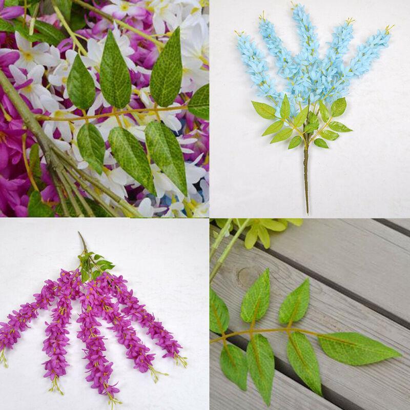 Faux artificielle soie lilas fleur plantes Bouquet de soirée de mariage jardin Salon Décor 2Pcs