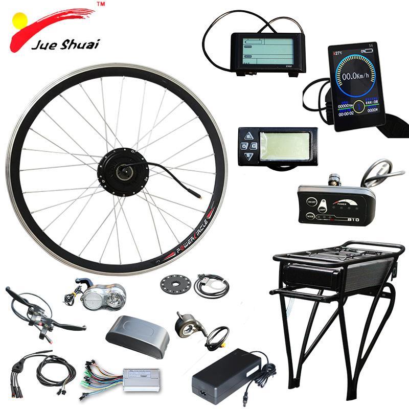 36 в 250 Вт 350 Вт 500 Вт электрический велосипед преобразования комплект передней ступицы мотор-колеса электровелосипедов 36В 10Ah e велосипед набор преобразования электрический велосипед