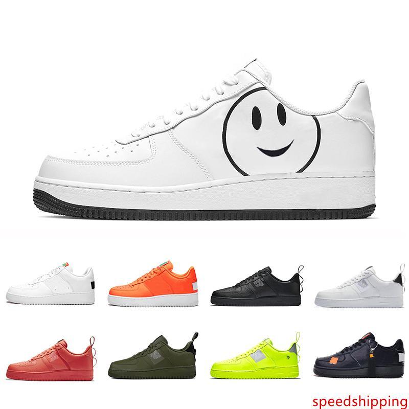 Sadece Fayda 1 Kırmızı Siyah beyaz Koşu Ayakkabı Siyah Beyaz Hemen Turuncu Buğday Kadınlar Erkekler Yüksek Düşük Kesim Eğitmenler Spor Sneaker 36-45 kez