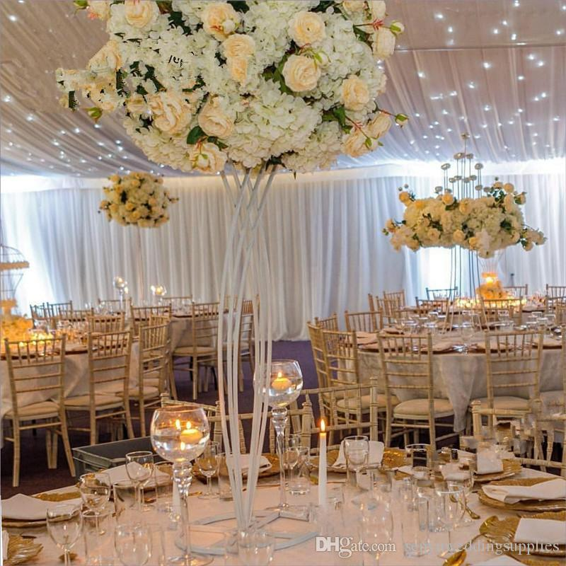 New style Tall Metal Round Flower flower arrangement Stand walkway aisle decor for Wedding Table Metal Arch for weddings flowers senyu0467