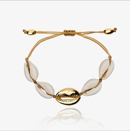 1 stück cowrie shell armband femme einstellbar boho macrame freundschaft echte muschel armband muttertag schmuck geschenk 7694