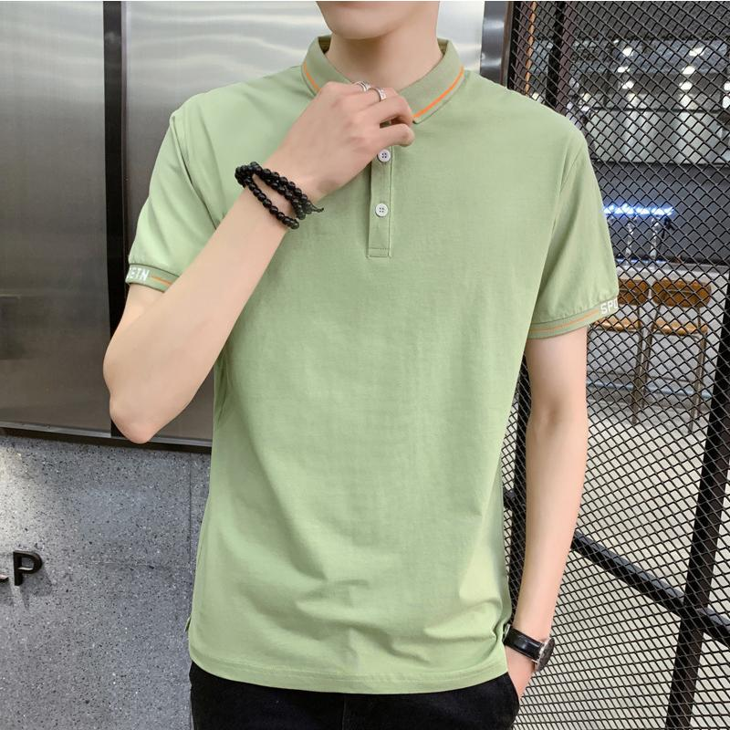 Sommermann hochwertige Baumwolle kühl und atmungsaktiv Kurzarm T-Shirt dünn Revers Herrenmode Halbarm T-Shirt Top 3xl