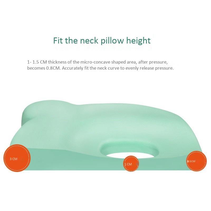Síndrome da cabeça do bebê travesseiro macio infantil Cabeça de descanso da espuma da memória Adormecida Almofada para prevenir Plagiocefalia Plano