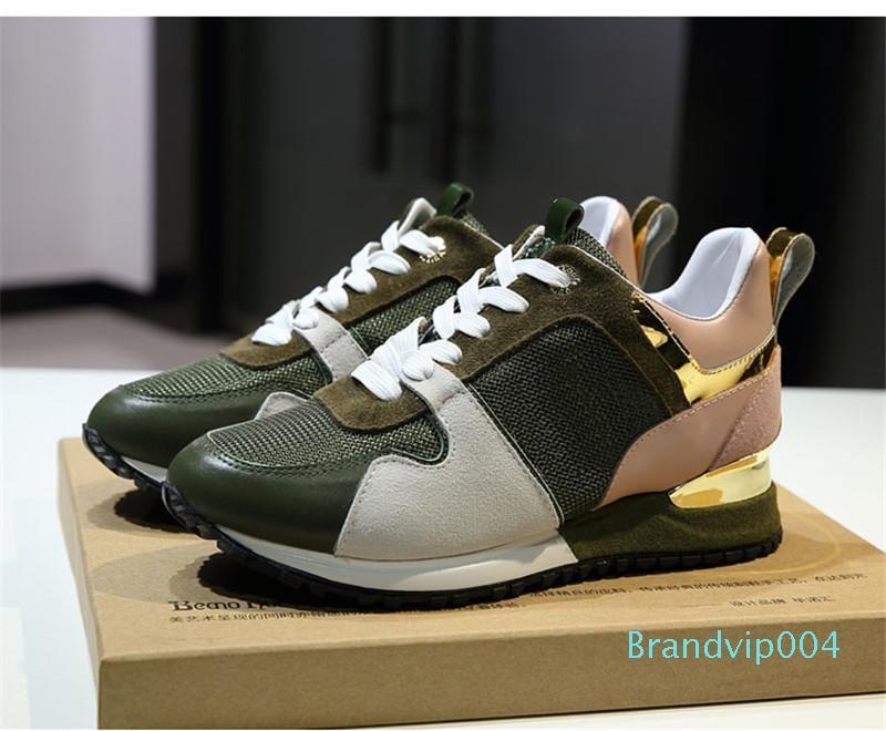 2018 популярные дизайнерские кроссовки кожаные кроссовки женщины мужчины Повседневная обувь Мода смешанный цвет с коробкой размер 36-45 x1