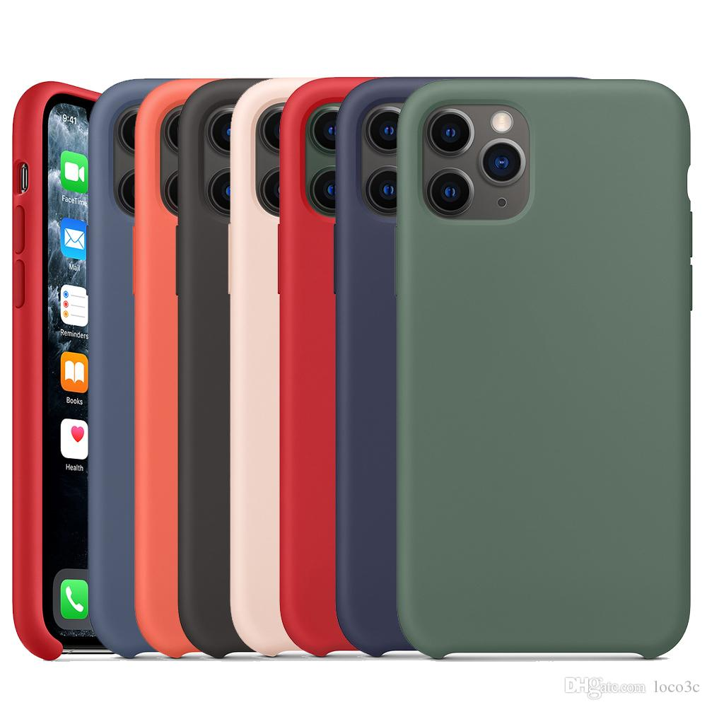 Original Liquid Silicone Case For iphone SE 11 Pro Max Xs Xr X Case Official Silky Soft-Touch Cover For iPhone 7 8 Plus 6s 6 With Retail Box