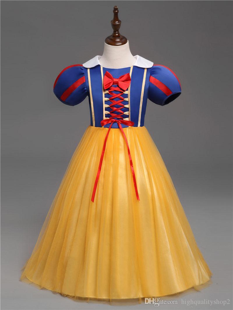 هالوين ملابس للأطفال سنو وايت تأثيري فساتين الفتيات تنكر حزب الأميرة ملابس الرضع طفلة توتو اللباس