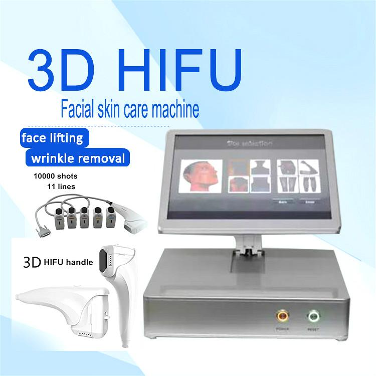 2020 portátil 3d HIFU máquina equipo de la belleza de alta intensidad HIFU Ultrasonido La eliminación de arrugas Lucha contra el envejecimiento estiramiento facial corporal adelgazante