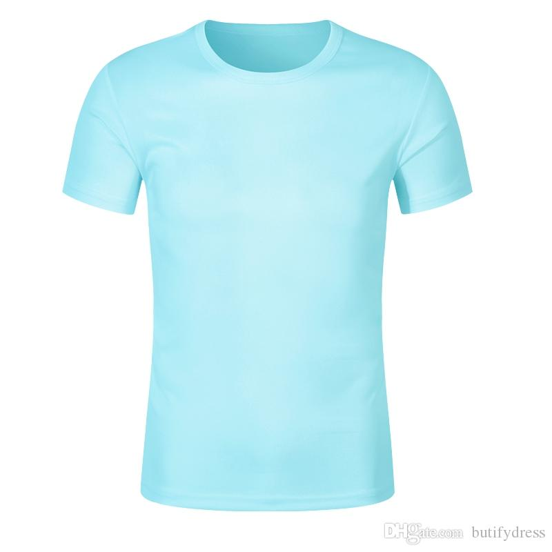 De secado rápido cuello redondo camiseta personalizable chándal de China producción de la fábrica transpirable multicolor libre de la carga del envío opcional gota