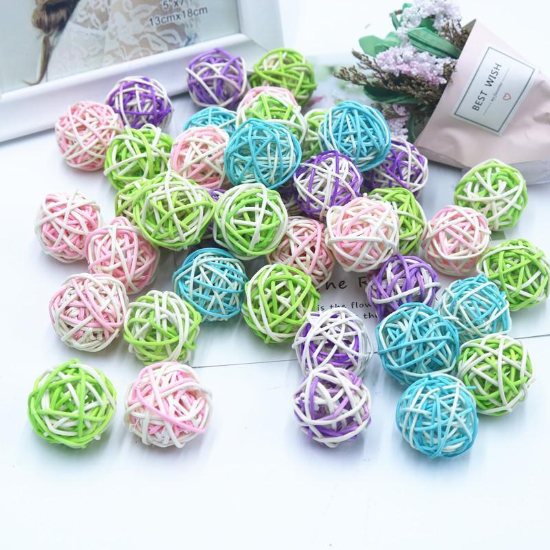 5x Rattan Ball Ornament Sepak Takraw Home Birthday Party Decor Wooden Balls