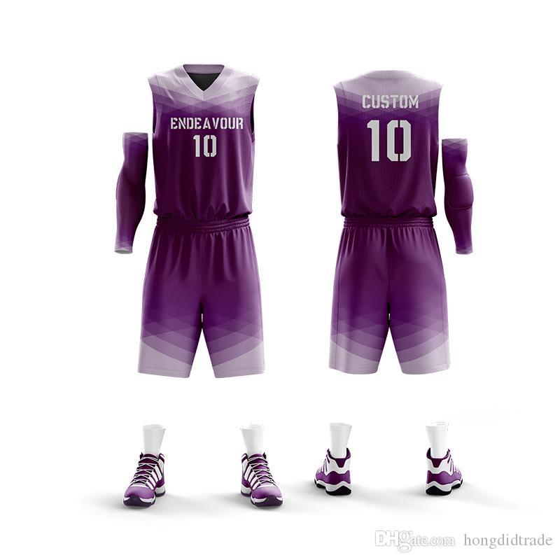 2019 новейший сухой форме логотипа на заказ баскетбол костюм с номером мужской баскетбольной форме с уникальной конструкции ткани мягко