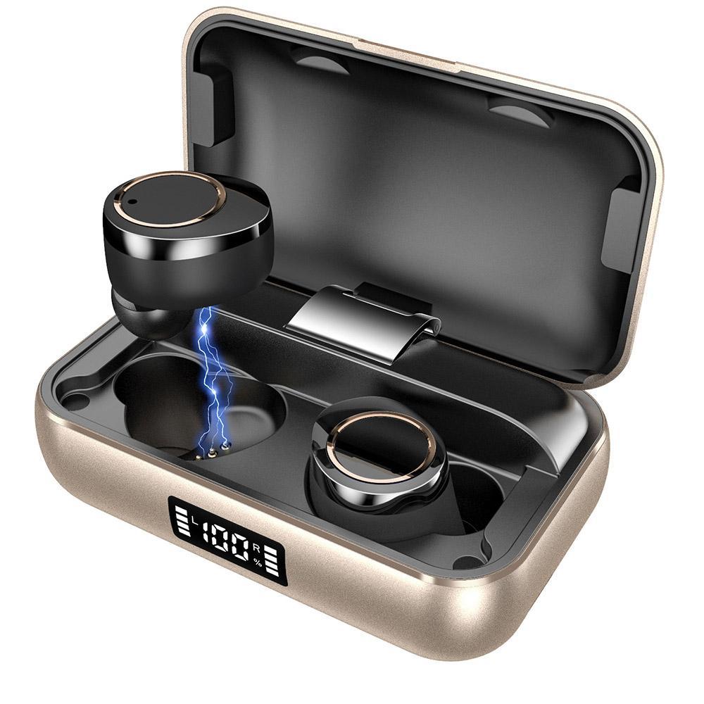 DHL سوبر X13 TWS 5.0 سماعات بلوتوث ستيريو سماعة سماعة رأس لاسلكية IPX7 ماء سماعة 5000mAh بطارية LED الذكية بنك الطاقة