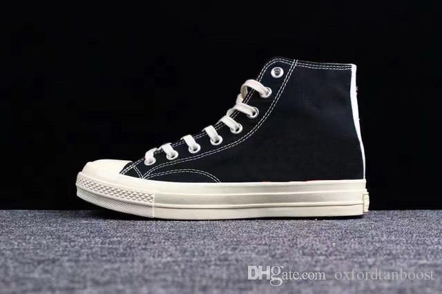 Moda 1970 Scarpe cuore di amore Occhi di tela classiche 1970 scarpe casual di alta cima Basso Skate Formazione Sneakers 35-44