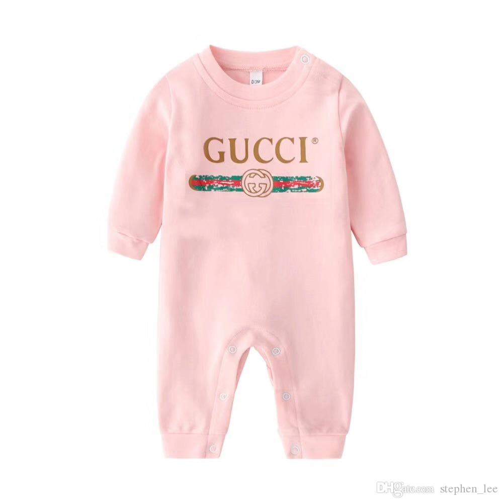 브랜드 의류 아기 긴 소매 장난 꾸러기 신생아면 점프 슈트 봄 가을 유아 바디 수트 유아 의류 원피스 0-2Years
