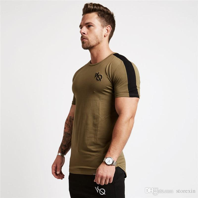2019 New Summer Sports Fitness Brothers Sports Camiseta de hombre Camiseta de manga corta de algodón, algodón, manga corta, camiseta de gimnasio