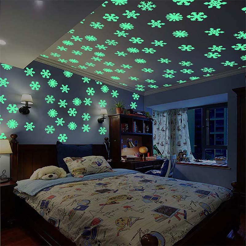 2020 New Year Snowflake Decorations For Home Luminous Wall ...