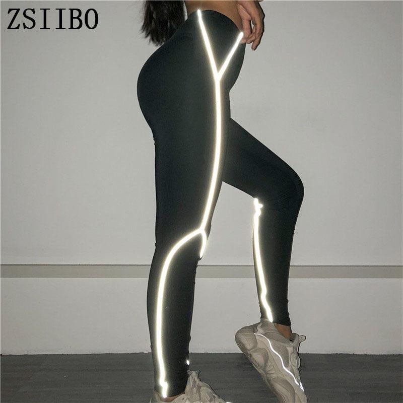 cuciture leggings di fitness riflettente Yoga rkoZJ 8D9CH donne 2019 estate nuove cuciture 2019 pantaloni stretti delle donne di estate nuovi pantaloni stretti rifl