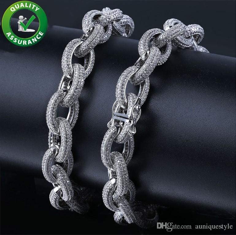 Hip hop jewelry iced out chains bracelet diamond cz designer mens bracelets pandora style charms luxury designer bangles wedding accessories