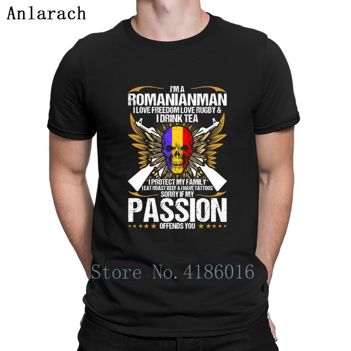 Romanianman Je aime la liberté d'amour Rugbys T-shirt Hiphop Haut ras du cou célèbre des hommes T-shirt 2018 standard New Style Tendance