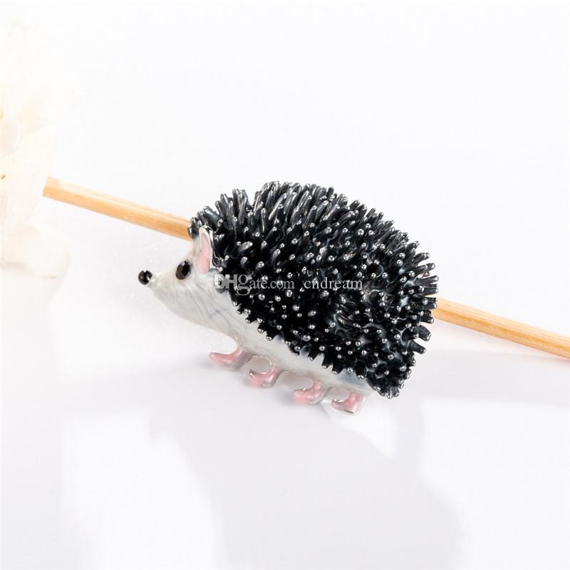 Enamel hedgehog brooches cartoon animal pin brooches lapel pin Brooches women mens brooch will and sandy fashion jewelry