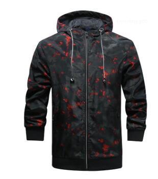 Куртки Спортивная с капюшоном Slim Fit пальто куртка мужского Камуфляж Ветровка