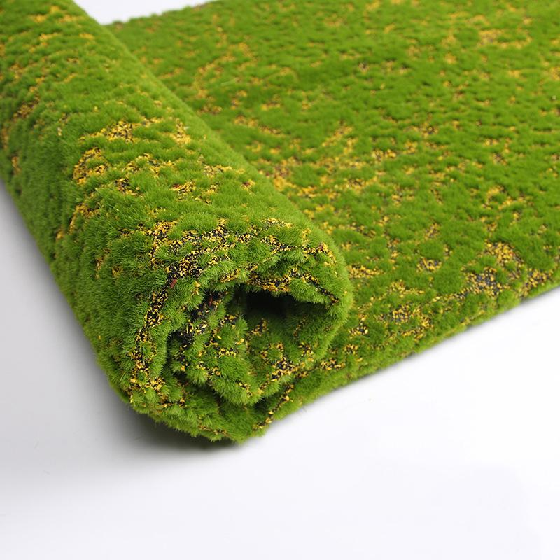 100 * 100cm Herbe Mat Vert artificiel Tapis Pelouses de gazon faux Sod jardin Moss étage bricolage mariage de décoration