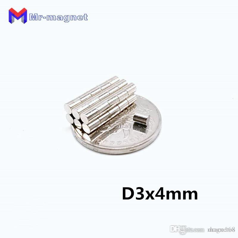 50 adet 3x4 mm D3x4 3 * 4 mıknatıs süper güçlü nadir toprak neodim mıknatıslar D3 * 4mm 3x4 disk Akıllı Oyuncak mıknatıs Manyetik malzeme