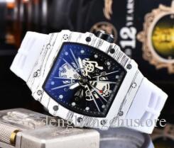 Guarda Big Bang Top di lusso da uomo uomini di alta qualità di uomini di sport di scheletro Quartz Chronograph cinturino in caucciù