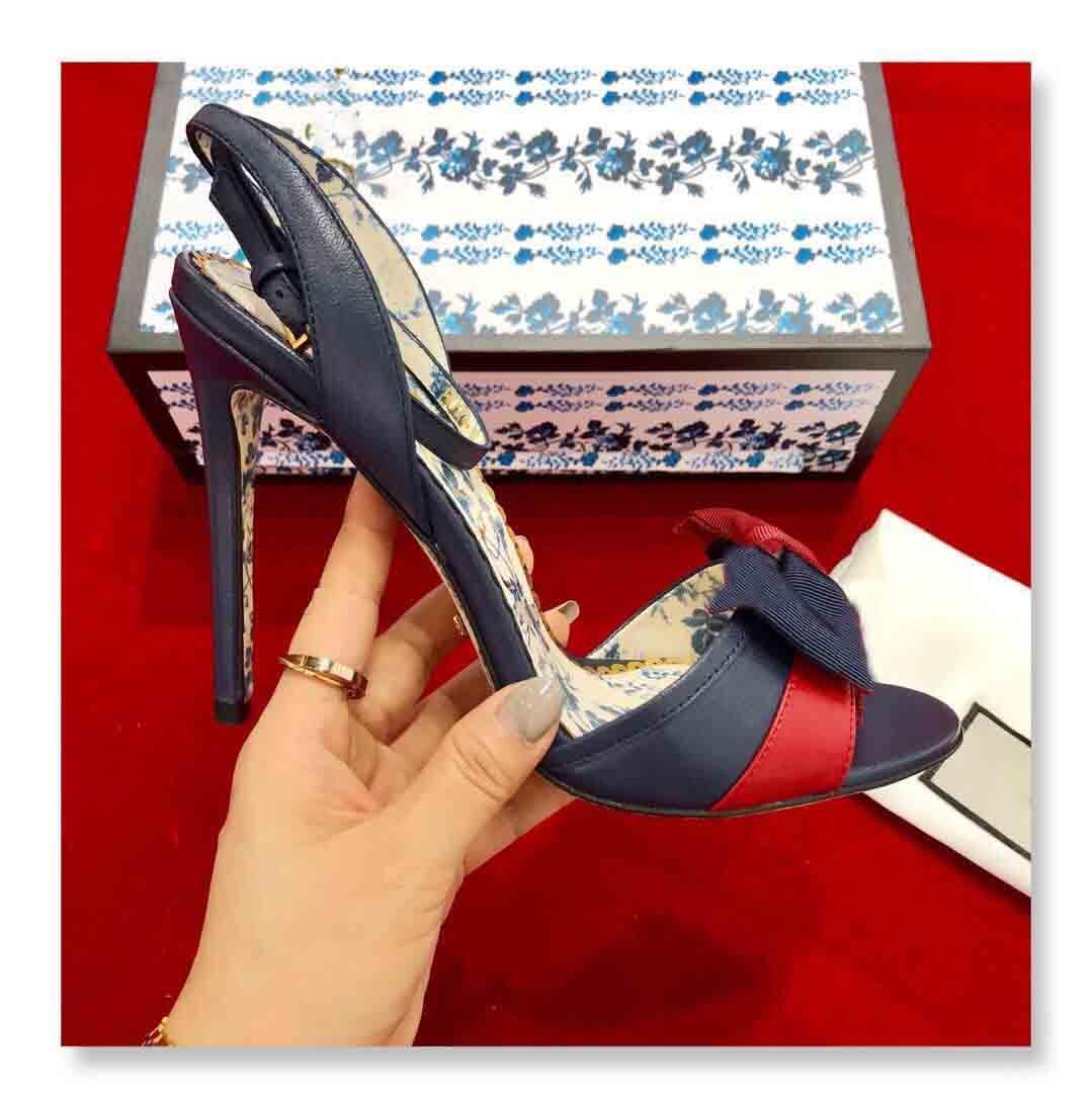 نساء بيع الصنادل ذات الكعب العالي، نقية اليدوية مصمم الربيع والصيف الصنادل، وأعلى جودة، حجم: 35-40