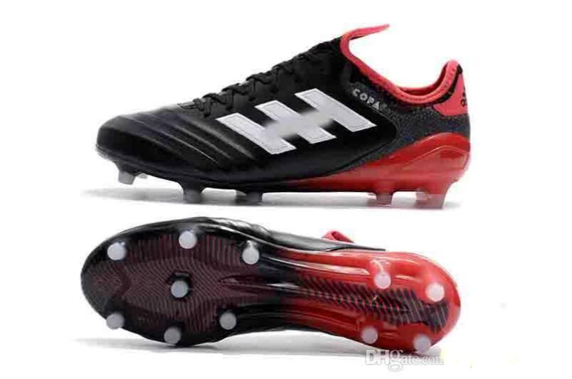 La mejor calidad de cuero de zapatos bajos de fútbol Copa 17,1 FG Botas de fútbol para hombre exterior Copa Mundial de Fútbol Tacos de oro blanco Negro Champagne 12