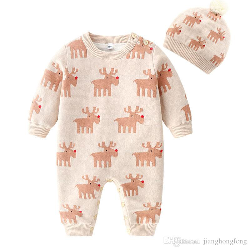 Newborn Girls Boys Jumpsuits 100%Cotton Knitted Baby Unisex Rompers Clothes 0-24M Toddler Infant Kids Overalls One Pieces Outfit
