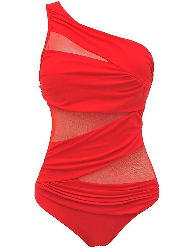 Desgaste de una pieza atractivo del traje de baño de la nadada Mulheres Maio Biquini feminino vendaje Monokini de una sola pieza Tamaño Maios Plus