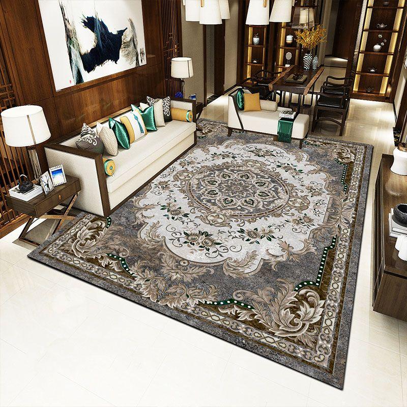 الرجعية الفارسية الأزهار البساط غير سجاد قابل للغسل لغرفة النوم غرفة المعيشة الطابق حصيرة أفضل الأسعار
