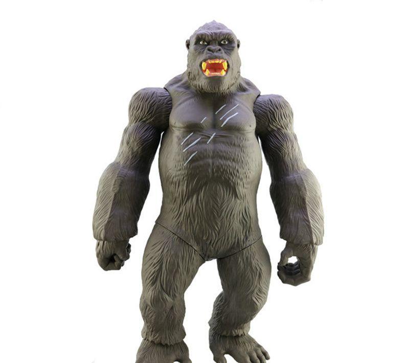 [ÜST] Büyük boy 45 CM Film King Kong Kafatası Ada Action Figure Oyuncak Gorilla Koleksiyonu Modeli Masa süslemeleri çocuklar hediye oyuncaklar