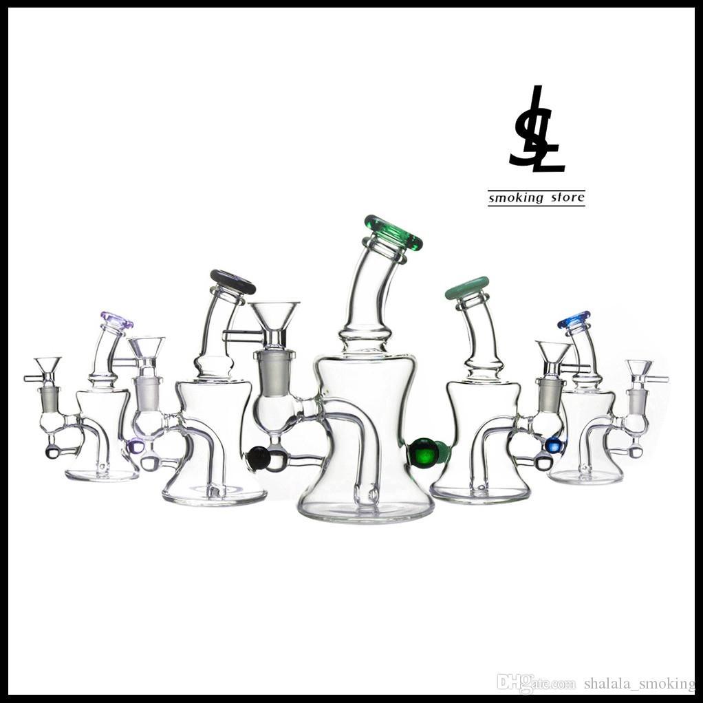 6 « » verre pipe à eau Mini Heady Bong avec verre Bowl huile Rigs narguilés percolateur receveur de cendres fumeurs outil
