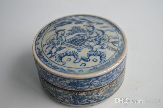 Antique porcelain crafts ornaments vase home furnishings antique porcelain cartridges rouge box chess
