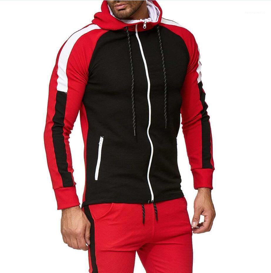 Manches Zipper Casual Jacket Slim Neck Lapel active outerwear Vêtements Homme luxe Patchwork Hommes Manteau Designer longue