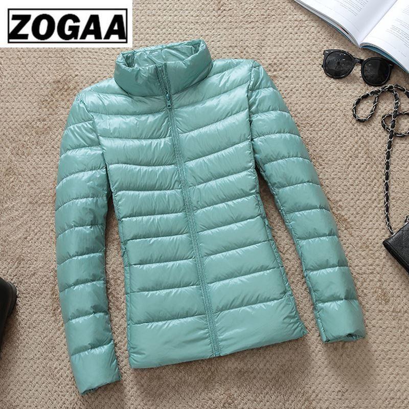UK Women New White Duck Down Hood Zipper Ultralight Jacket Outwear Hooded Jacket