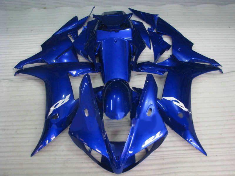 Kit de carenado de motocicleta para YAMAHA YZF R1 02 03 YZFR1 2002 2003 YZF-R1 02-03 R1 Conjunto de carenados de ABS azul + regalos