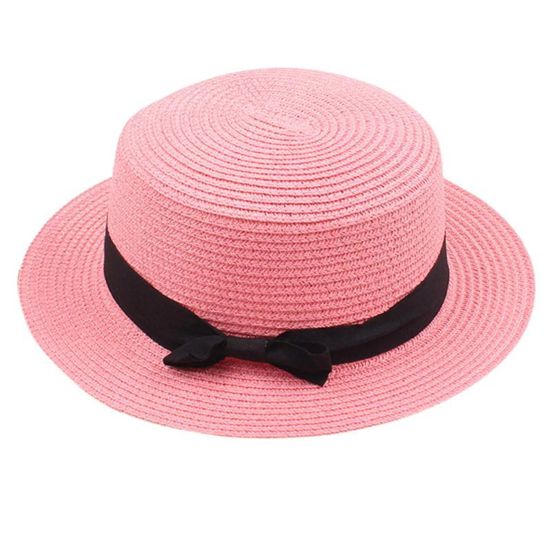 Mother/&Me Father Mother Bowknot Children Breathable Hat Straw Hat Kids Hat Cap