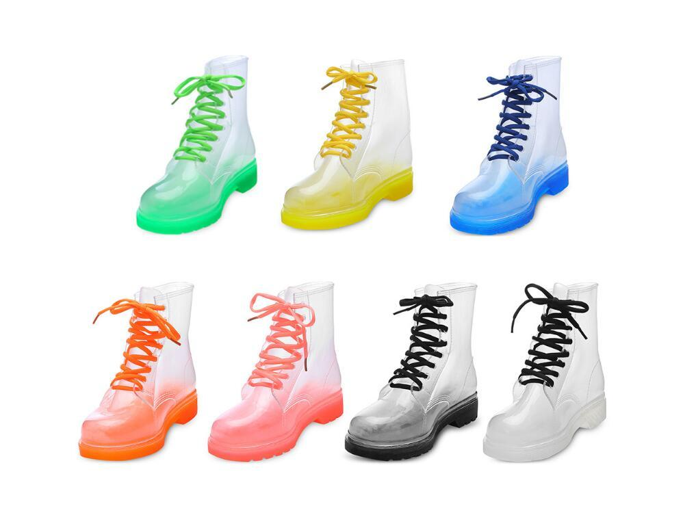 Fashion middle tube lady Martin rain boots kitchen jelly mid-help rain boots girls non-slip water shoes Korean version of overshoes rubber s