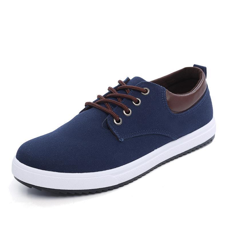 Erkek Ayakkabı Casual Sneakers Hafif Nefes Dantel Kadar Kanvas Ayakkabılar Erkekler Loafer'lar