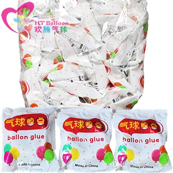 100 Pontos Balão Glue Dot anexos Anexar fontes da festa de casamento Balões Adesivos Etiqueta DIY Balão decoração da parede