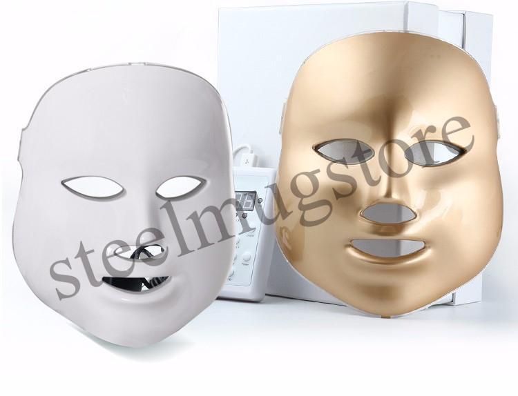 LED maschera facciale 3/7 colore Photon LED elettrico maschera anti rughe acne rimozione viso pelle ringiovanimento viso Spa Salon