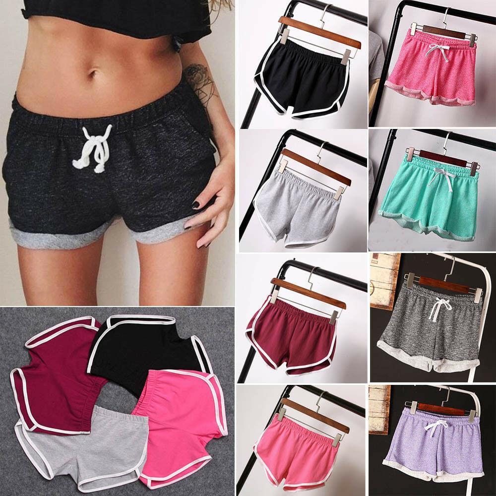 Donne casuali sport correnti Shorts pantaloni di yoga Palestra Jogging Cintura caldi di estate