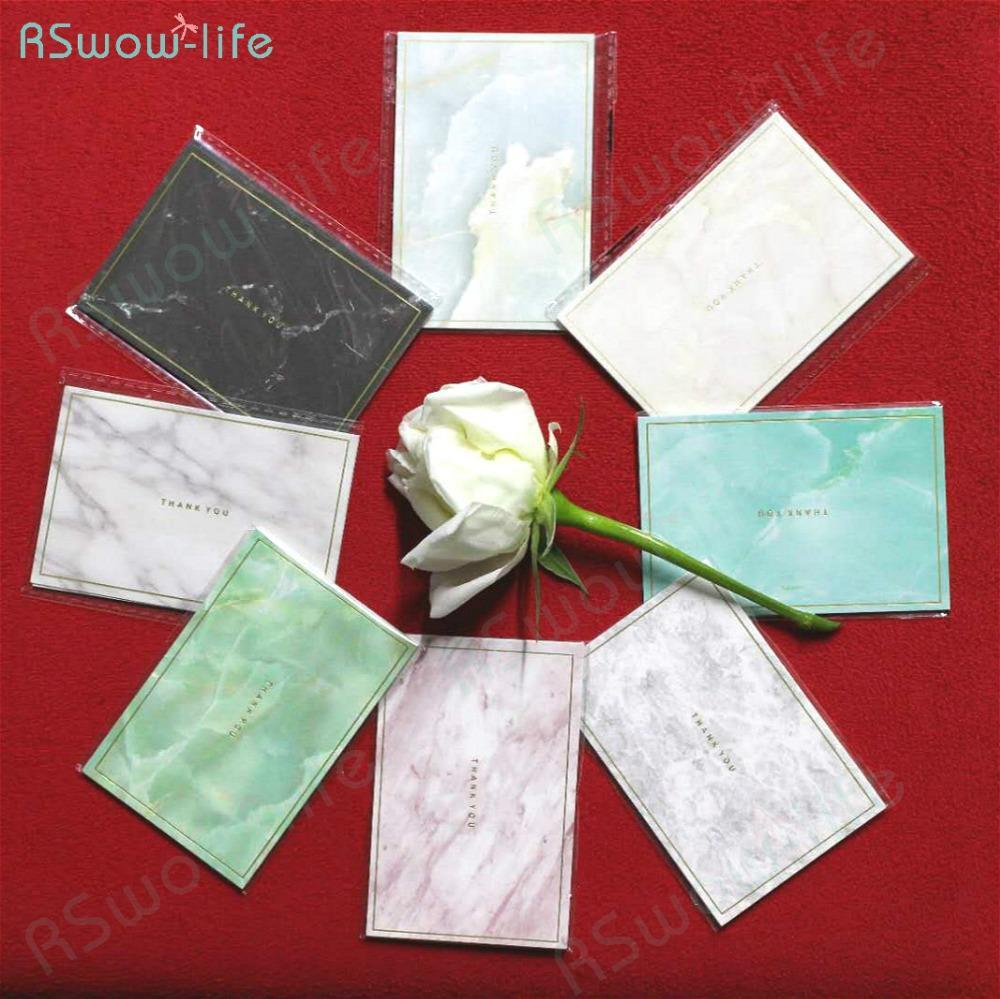 35pcs Mini tarjeta de estampado de oro marmoleado Mini tarjeta de felicitación creativa simple Tarjetas de boda Deseos de cumpleaños Navidad