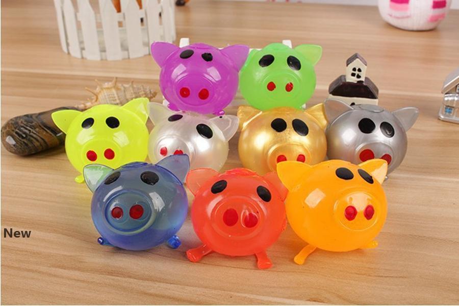Descompressão Pig Anti Estresse Splat bola brinquedos Vent Ventilação bola pegajosa quebra Water Ball Squeeze Partido Toy favor LJJO7344-5